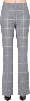 Calvin Klein Flared Check Wool Blend Pants