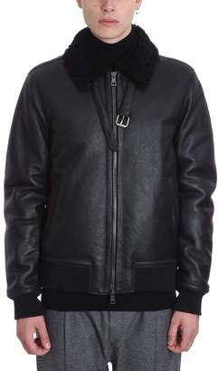 Low Brand Black Leather Jacket