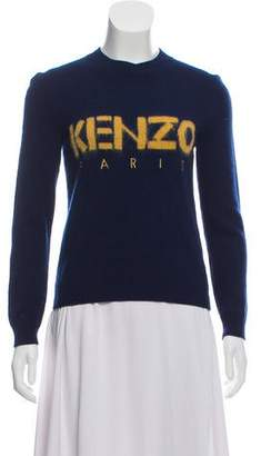 Kenzo Medium-Weight Wool Graphic Logo Sweater