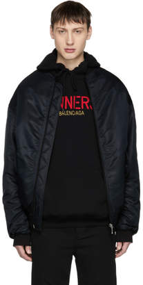 Balenciaga Black Sinners Wobble Bomber Jacket