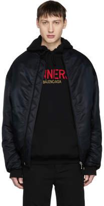 Balenciaga Black Sinners Wobble Bomber Jacket