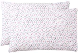 Pottery Barn Teen Daydreamer Pillowcases, Set of 2, Purple