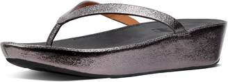 FitFlop Linny Faux Leather Toe-Thongs