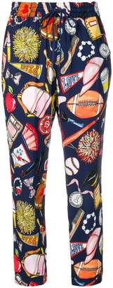 Love Moschino printed drawstring trousers
