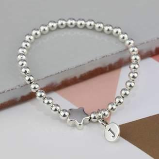 Nest Personalised Tess Silver Star Bracelet