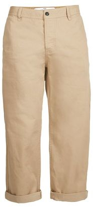 Stone Cropped Wide Leg Chinos $55 thestylecure.com