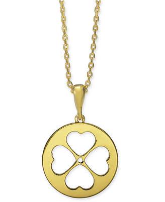 "Kate Spade Gold-Tone Clover 15-1/4"" Mini Pendant Necklace"