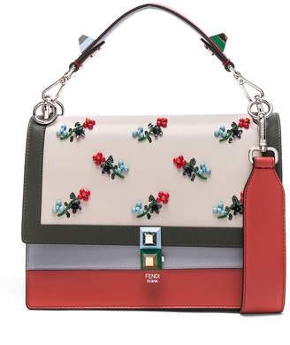 Fendi Embellished Kan l Shoulder Bag