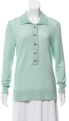Tory Burch Wool Button- Up Cardigan