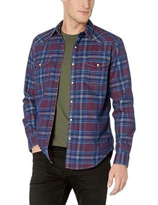 Lucky Brand Men's Long Sleeve Santa FE Western Button UP Shirt in