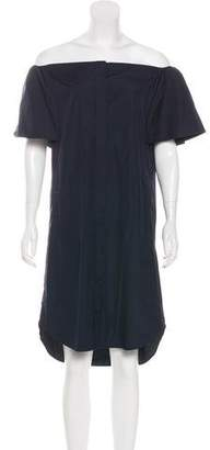Vince Short Sleeve Knee-Length Dress