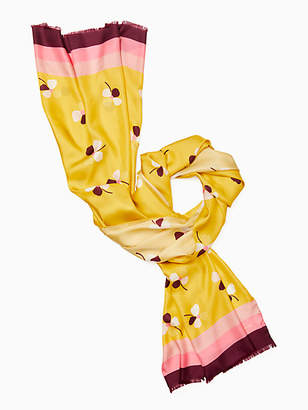 Kate Spade Dusk buds silk oblong scarf