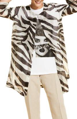 Marina Rinaldi Filologo Linen & Silk Organza Jacket