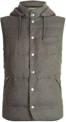 Brunello Cucinelli Feather Filled Hooded Gilet