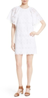 Women's Kate Spade New York Eyelet Cotton Shift Dress $328 thestylecure.com