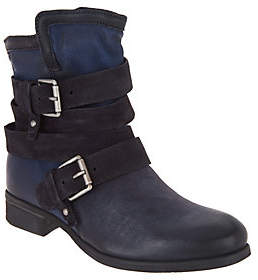 Miz Mooz Leather Ankle Boots with Buckle Detail- Savvy