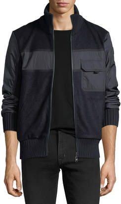 Moncler Knitted Zip-Front Cardigan