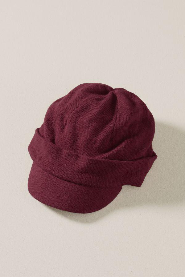 Women's Soft Knit Newsboy Cap