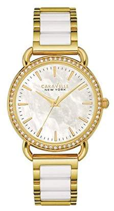 Bulova Women's Quartz Stainless Steel and Ceramic Casual Watch, Color:Two Tone (Model: 44L172) $120 thestylecure.com
