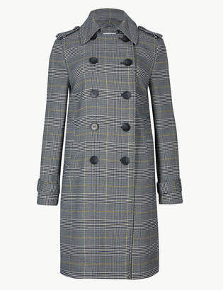 Marks and Spencer Checked Double Breasted Coat