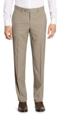 Saks Fifth Avenue COLLECTION Tonal Plaid Wool Pants