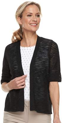 Croft & Barrow Women's Textured Crop Cardigan Sweater