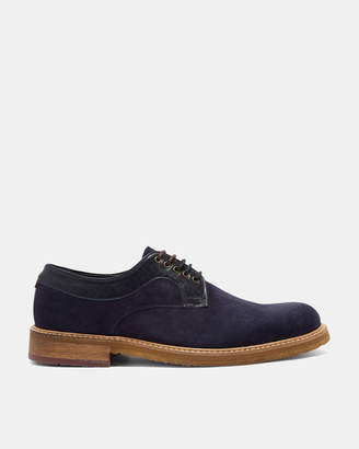 Ted Baker GRUUE Leather trim suede Derby shoes