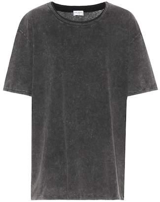 Saint Laurent Long cotton T-shirt