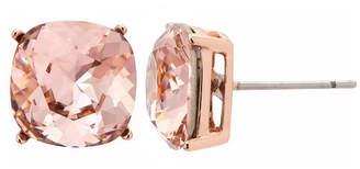 Swarovski SPARKLE ALLURE Sparkle Allure City Rocks Made With Elements Pink 14k Rose Gold Over Brass 10mm Stud Earrings