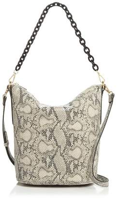 Street Level Snake Print Hobo with Chain Handle