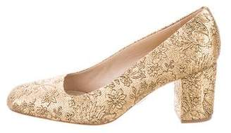 Michael Kors Metallic Brocade Round-Toe Pumps