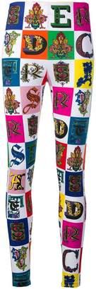 Versace all over logo leggings