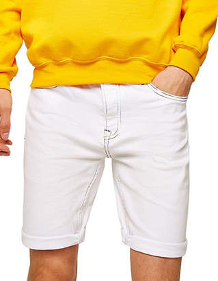 Topman White Rainbow Denim Shorts
