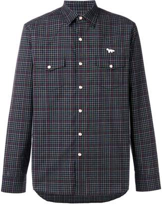 MAISON KITSUNÉ checked logo shirt