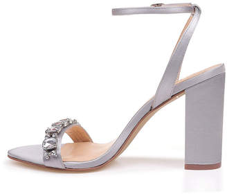 04f4b9e9f84 Badgley Mischka AMERICAN GLAMOUR American Glamour Womens Virgo Pumps Buckle  Open Toe Block Heel