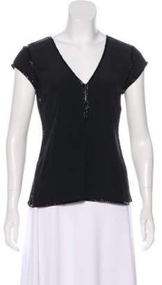 Calypso Silk Sequined Top