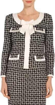 St. John Contrast Shine Dash Knit Jacket
