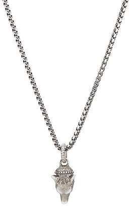 Gucci Men's Anger Forest Wolf-Head Pendant Necklace - Silver