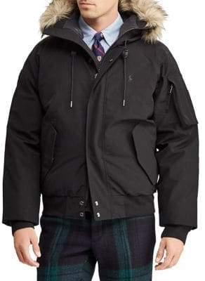 Polo Ralph Lauren Faux-Fur Trimmed Down Bomber Jacket