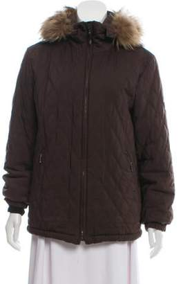 Post Card Fur-Trimmed Quilted Jacket Brown Fur-Trimmed Quilted Jacket
