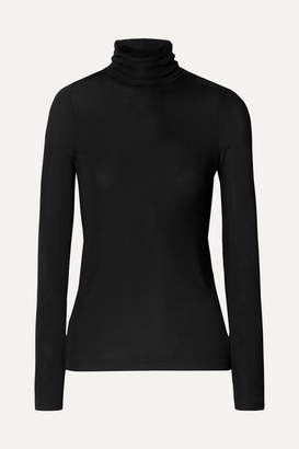 Gold Sign The Rib Stretch-jersey Turtleneck Sweater - Midnight blue