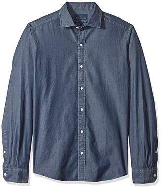 Buttoned Down Men's Tailored Fit Indigo Denim Cotton Sport Shirt