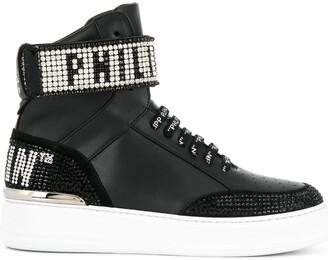 Philipp Plein hi-top crystal sneakers