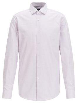 BOSS Hugo Micro-Pattern Cotton Dress Shirt, Slim Fit Ismo 18 pink