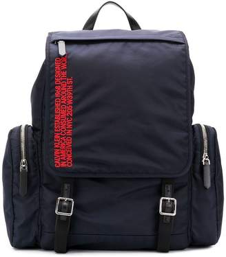 Calvin Klein Address embroidered backpack