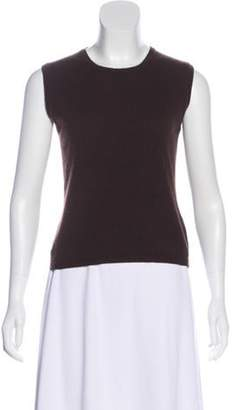 Burberry Cashmere Sleeveless Top Brown Cashmere Sleeveless Top