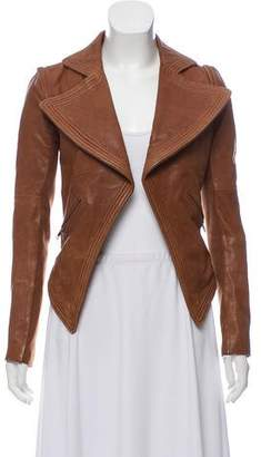 Yigal Azrouel Cut25 by Open Front Leather Jacket