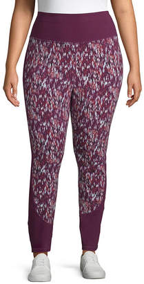 ST. JOHN'S BAY SJB ACTIVE Active Print Block Legging - Plus