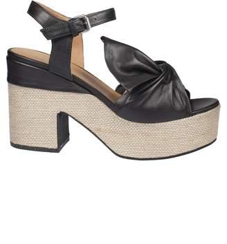 Janet & Janet Wrap Style Platform Sandals