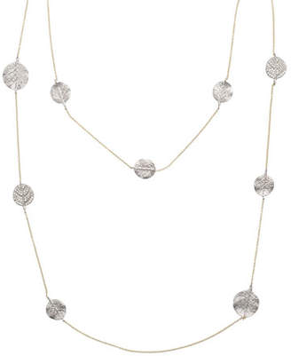 "Michael Aram Botanical Leaf Long Diamond Station Necklace, 42""L"